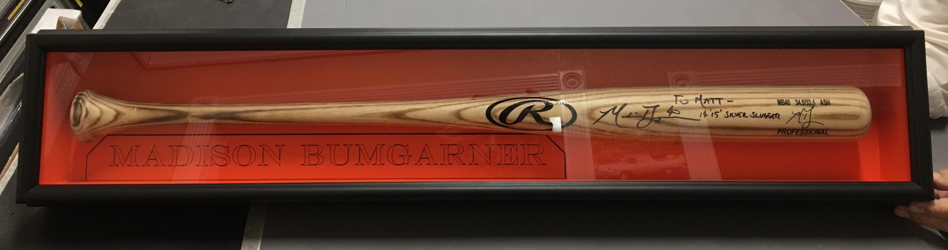 Framed Baseball Bat