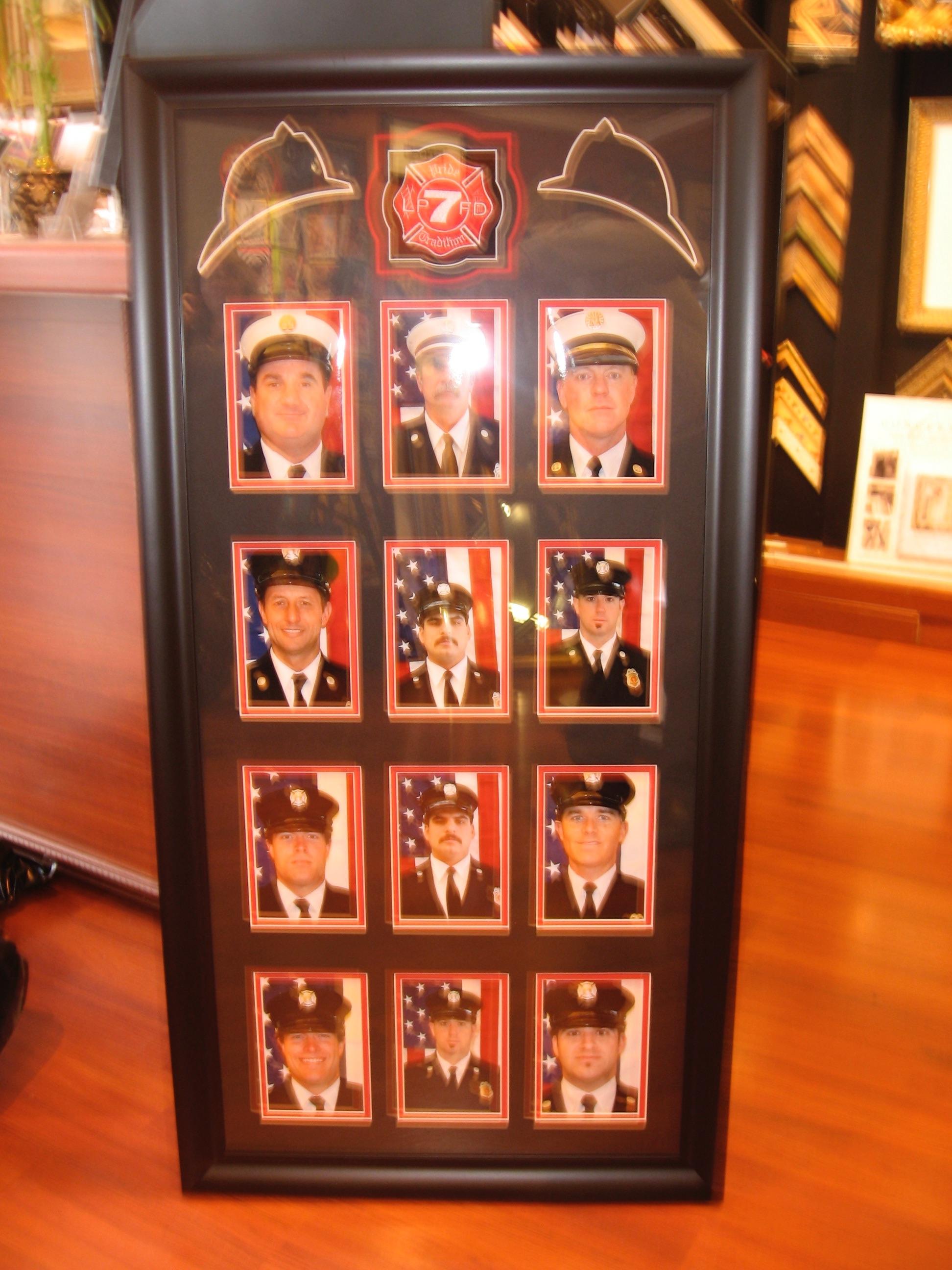 Framed Firefighter Photos