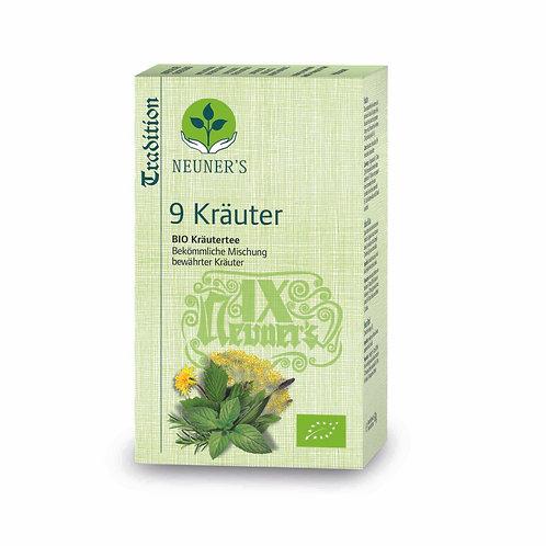 9 Kräuter BIO - Velgjørende blanding av virkningsfulle urter.