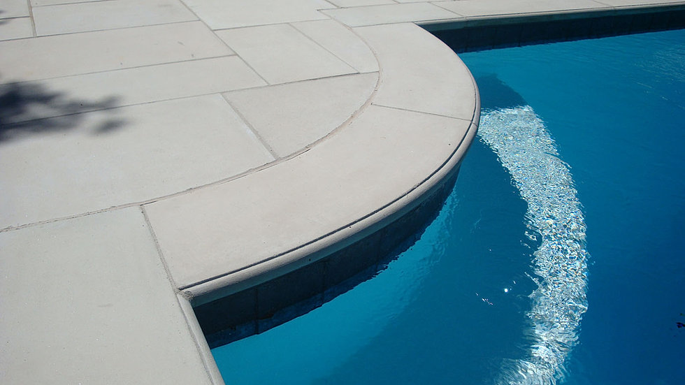 Caprecast pool coping for Pool durchmesser 4 50