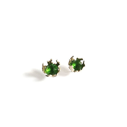 Green Coral earrings