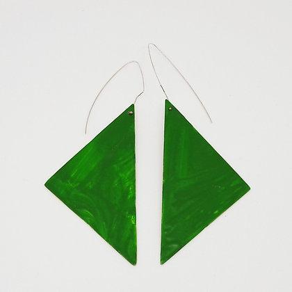 paint-me-green geometric earrings