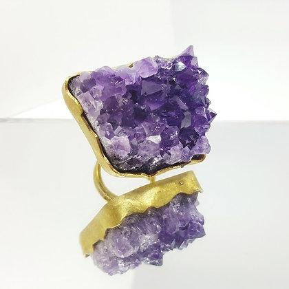 purple amethyst cocktail ring
