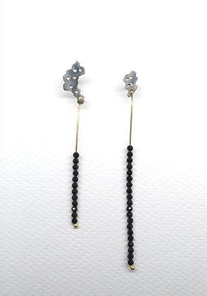 #PieceOfMe black spinel earrings