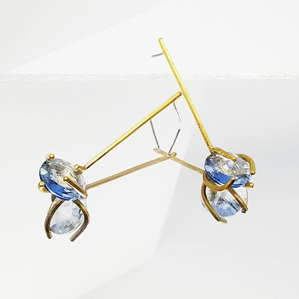 blue claw earrings