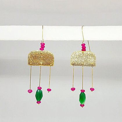 glitter and spice, candy-like earrings