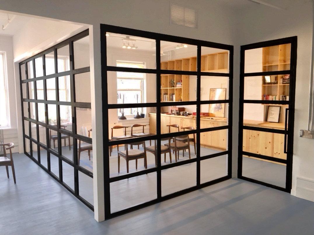 accordion doors + single hung door + par
