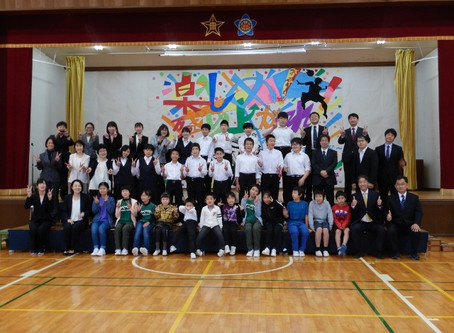 中学校ひじり祭。小中学校ふるさとコンサート