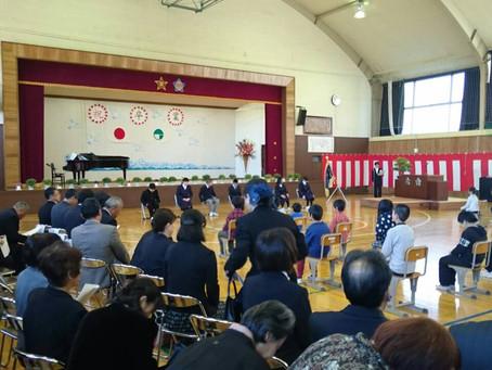 大岡小・中学校卒業式