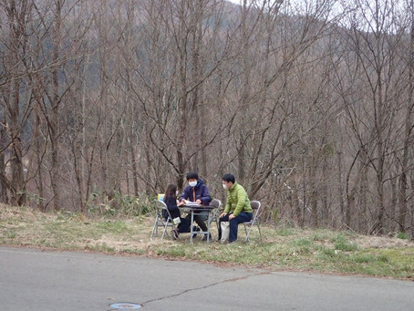 青空学級・原木の伐り出し