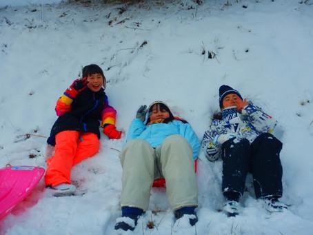 雪遊び!たくさんふりました!