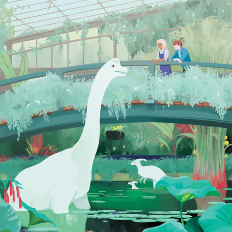 Kew Garden With Dinosaurs