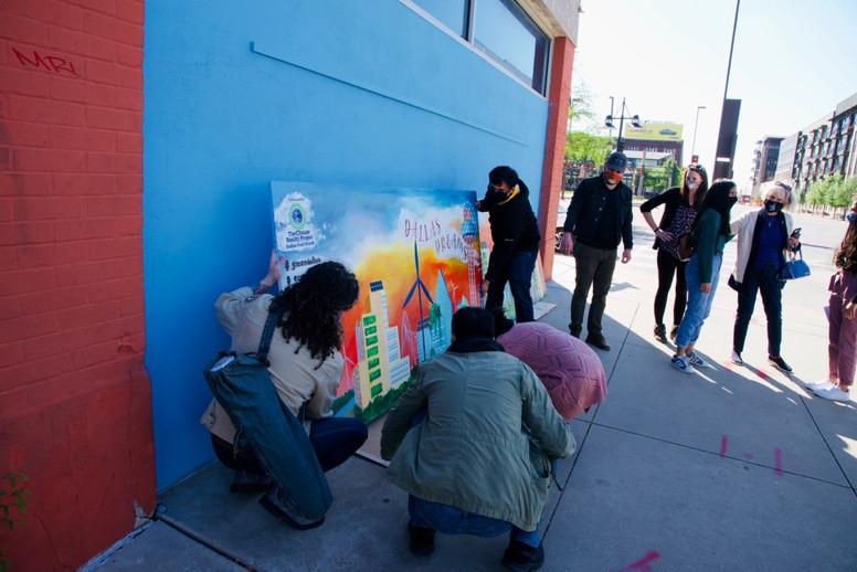 Dallas Dream Mural Installation