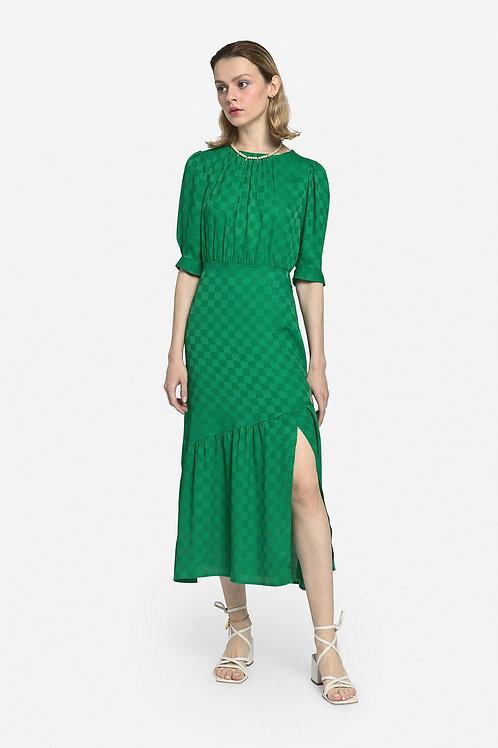 Ottod'Ame Midi Dress with Ruffle