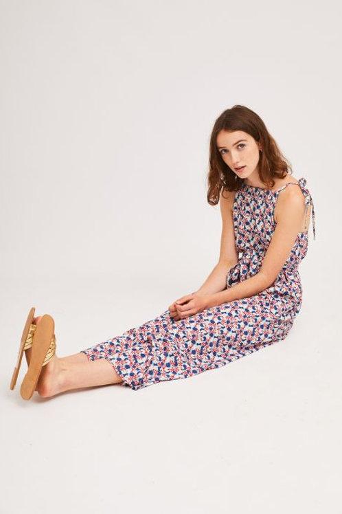 Floral Print Long Jumpsuit