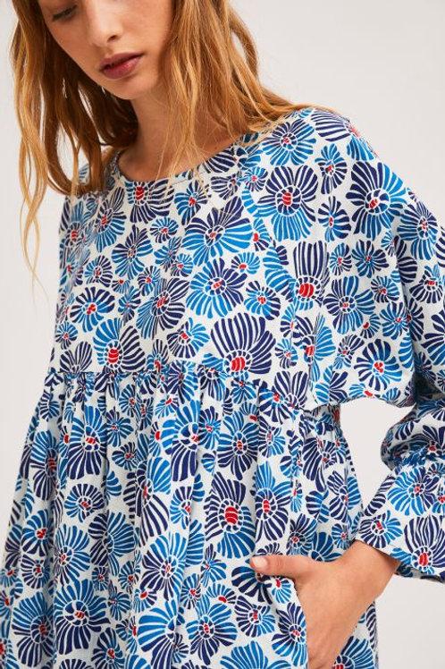 Flower Print Empire Dress