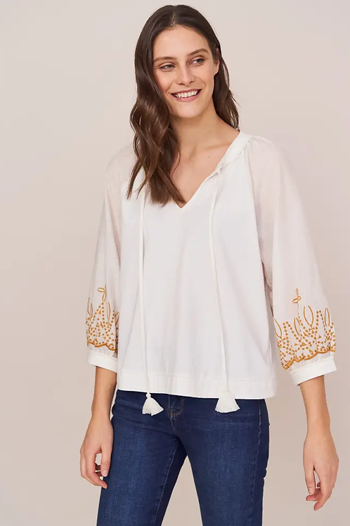 Tansy Embroidered Top