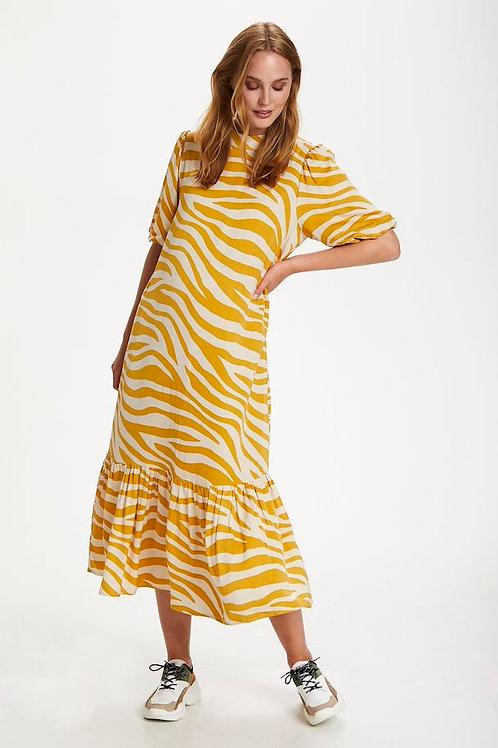 Fall Leaf Zebra Print Dress