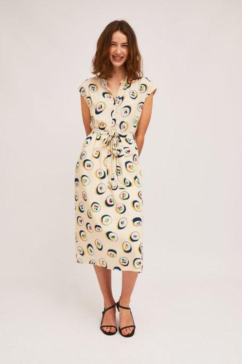 Sushi Print Shirt Dress