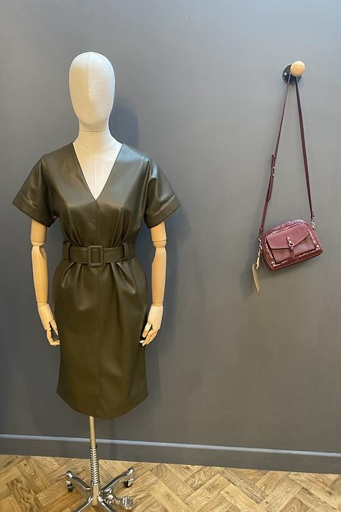 Hanita leatherette dress
