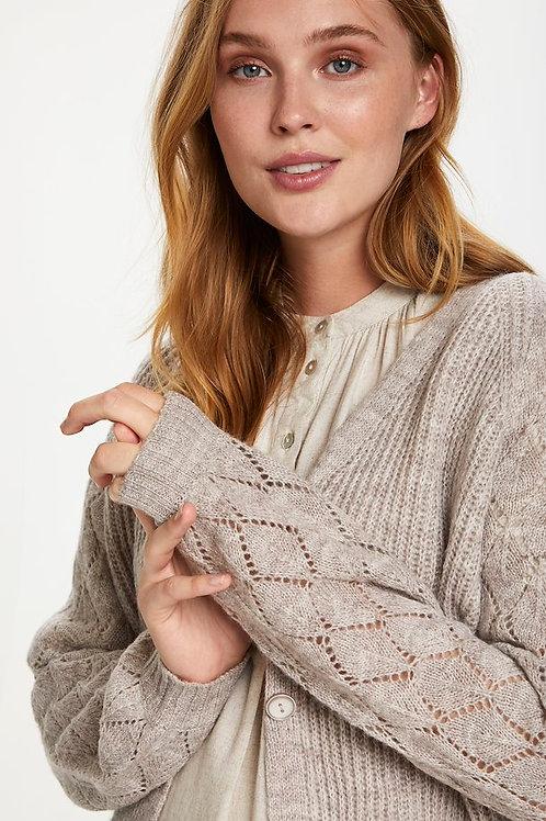 Doeskin Melange Knitted Cardigan