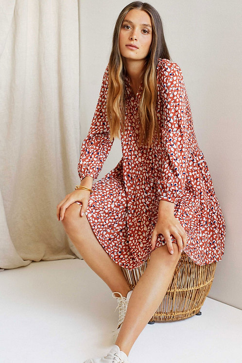 Flowy Henley Dress