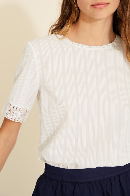 Blouse with Stitching Detail