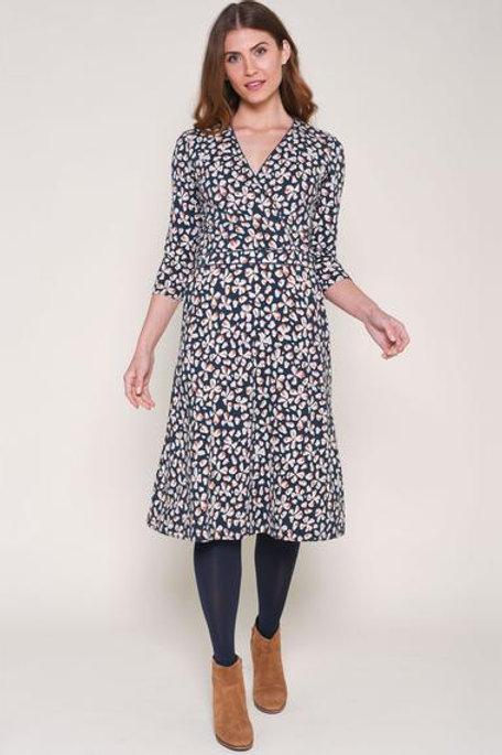 Petal Wrap Dress