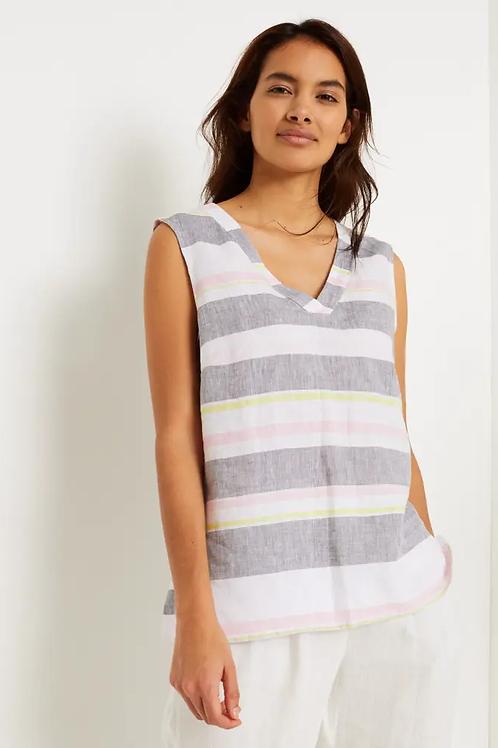 Island Stripe Linen Top
