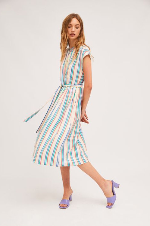Striped Midi Dress