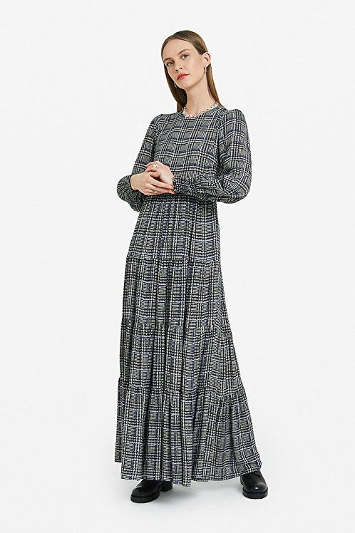 Ottod'Ame Long Check Dress