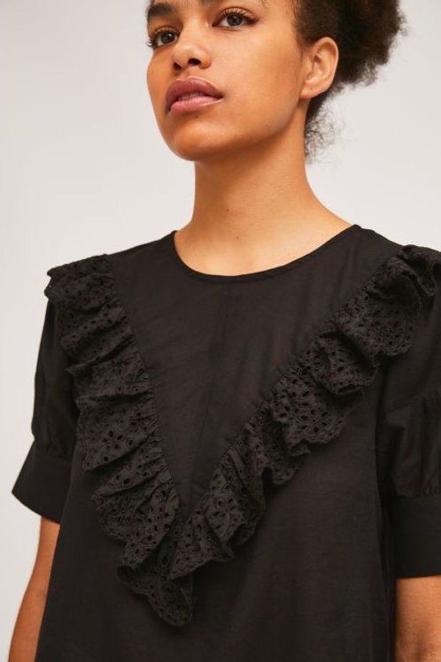 Front Lace Ruffle top
