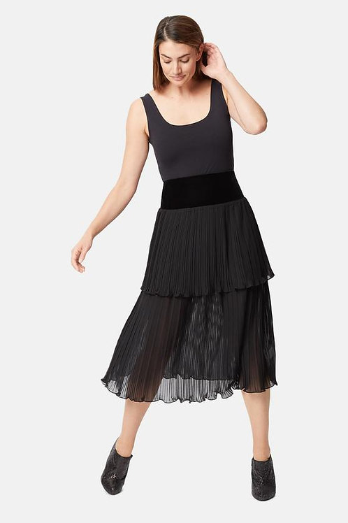 Pleated Tired Skirt