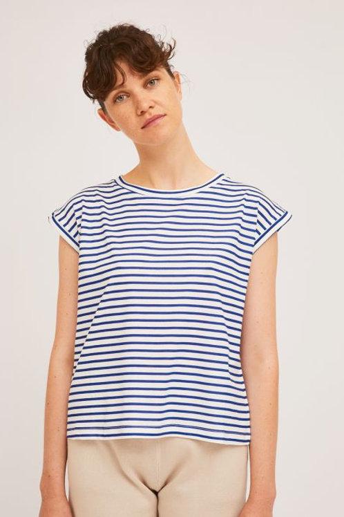 Cotton Blue Stripe Tee