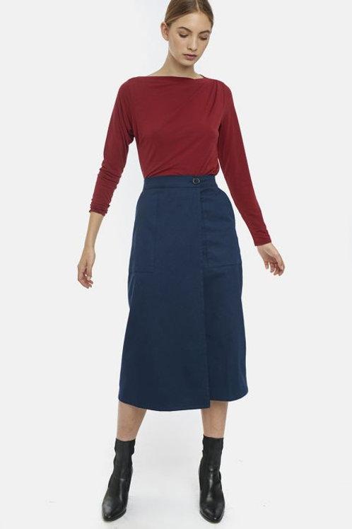 Staright Cut Wrap Skirt