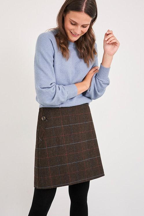 Cinnamon Wool Skirt