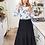 Thumbnail: Mia Tiered Denim Skirt