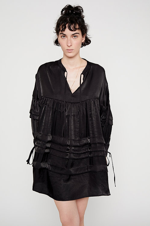 Black Oversized Shirt Dress