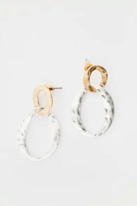 Metal Link Earrings