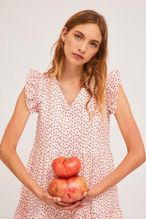 Short Red Print Dress