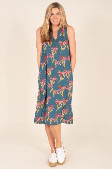 Stemmed Floral Beach Dress