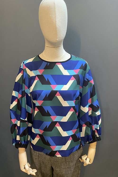 Hanita Geometric Print top