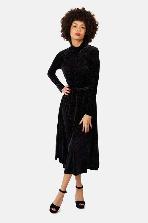 Traffic People Velvet Polo Dress