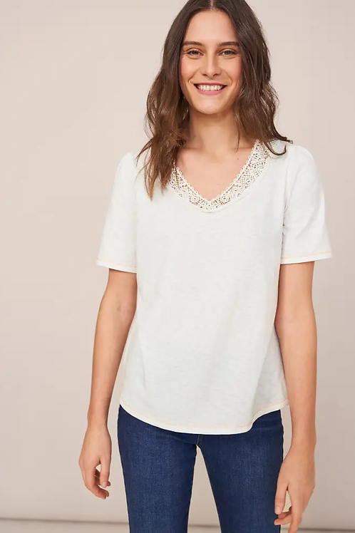 Lilly Lace V Neck Tee