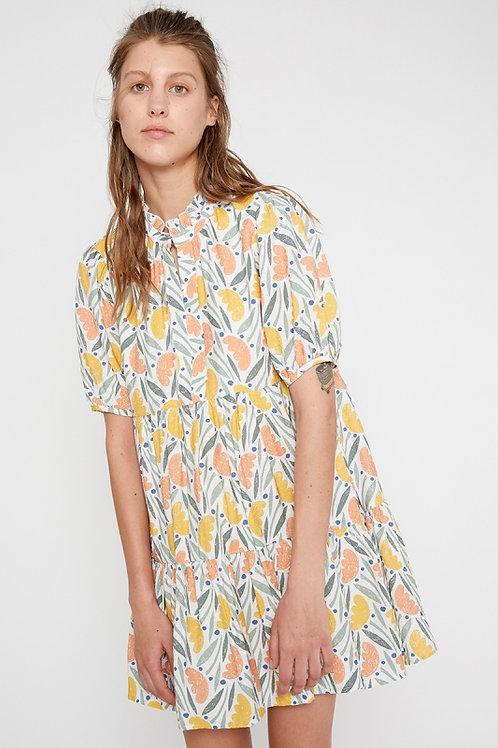 Foliage Print loose fit dress