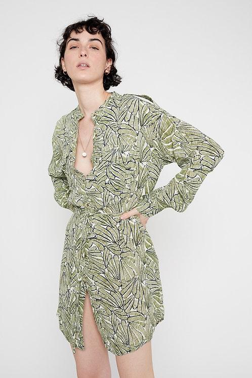TropicalShort Shirt Dress