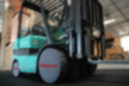 HWT TireBooties on a forklift