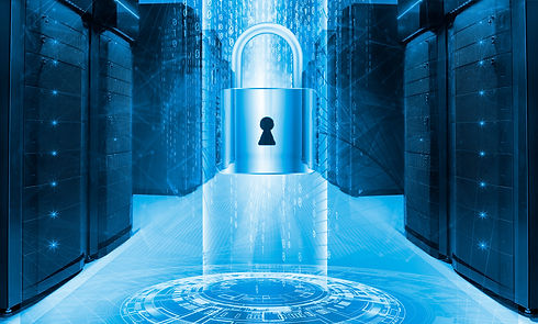 Server data protection concept. Database