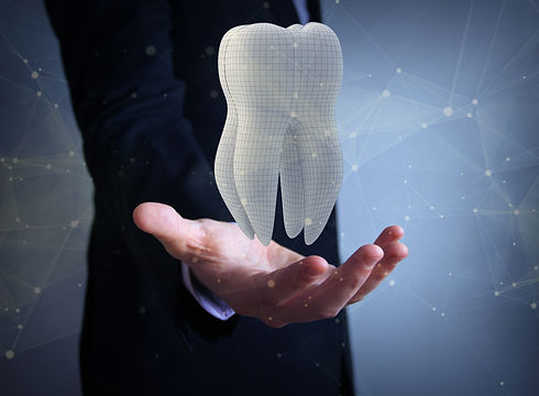dental technician_ businessman with 3d f