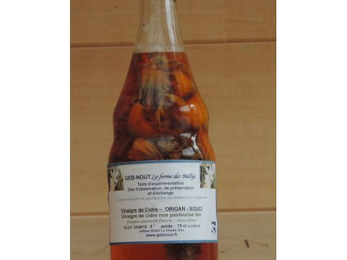 Vinaigre de Cidre aux plantes - Geb-Nout (La ferme des Mellys)